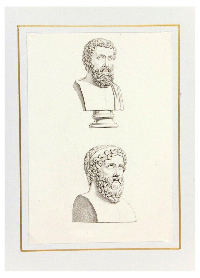Statues, C. 1820, Set of 4