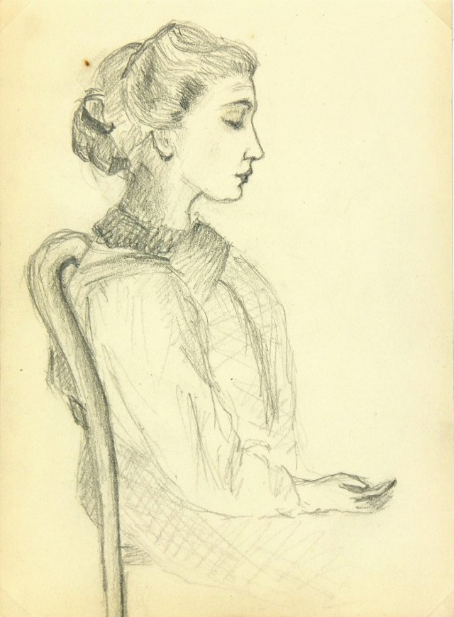 French     Drawing, C. 1915