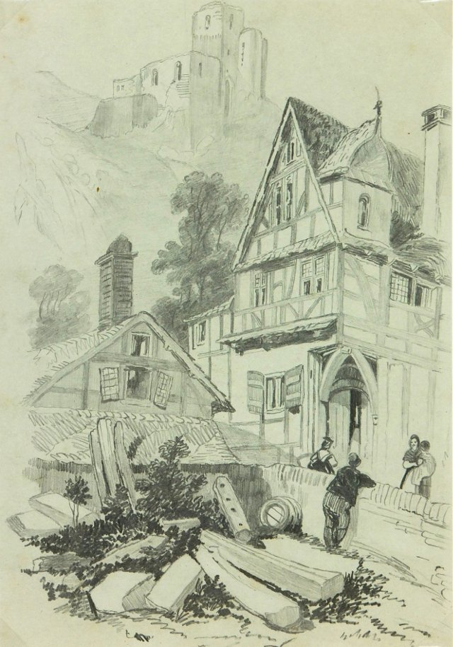 *Houzz-Drawing Town, C. 1880