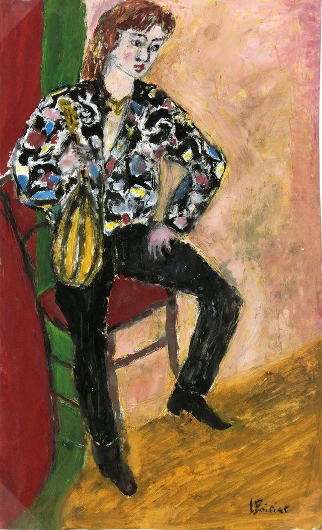 Woman on Chair, C. 1960