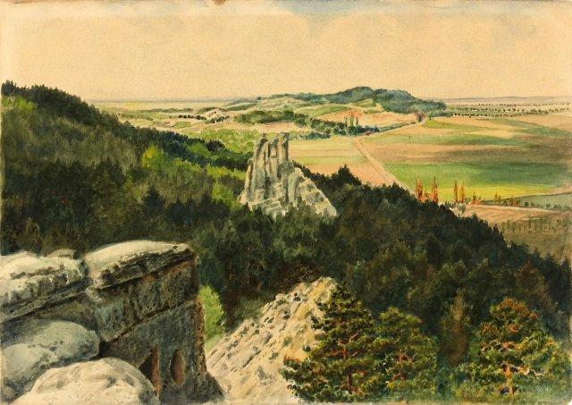 Vantage Point Watercolor, C. 1910