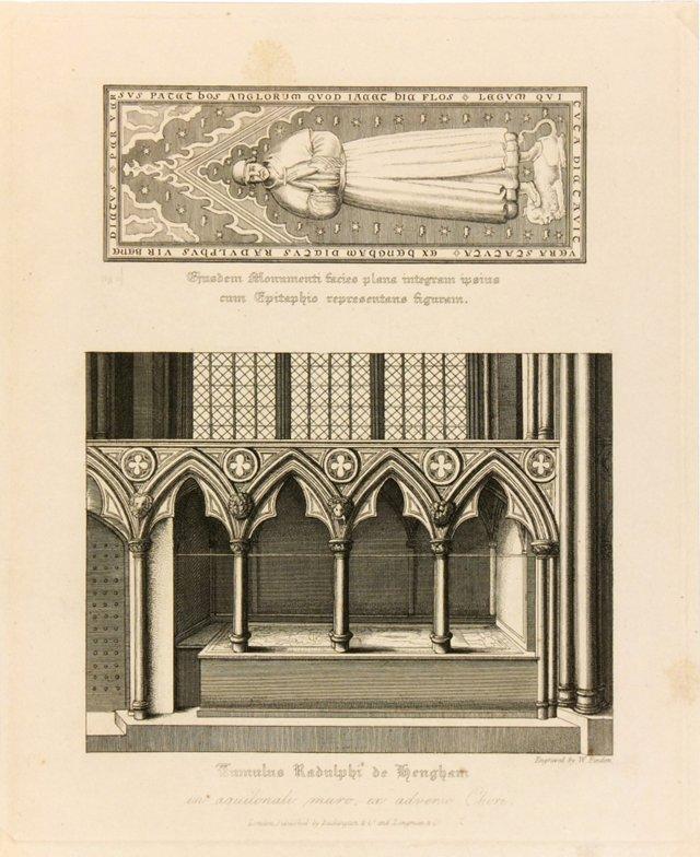 Sir Ralph de Hengham Engraving, 1818