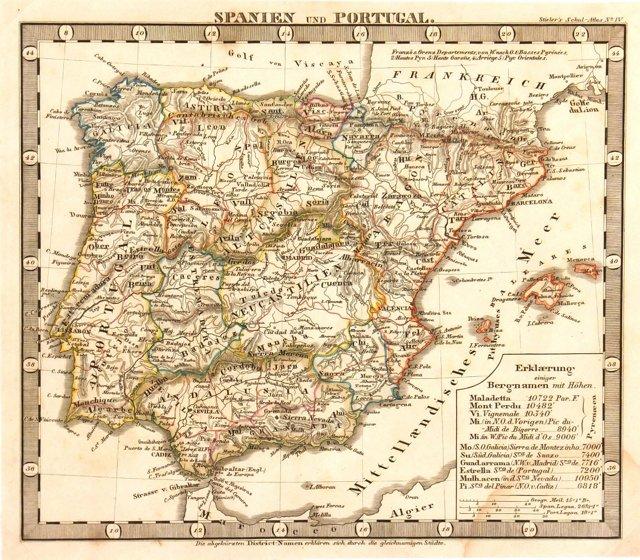 Spain & Portugal, 1847