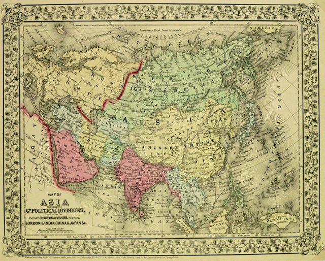 Asia, 1870