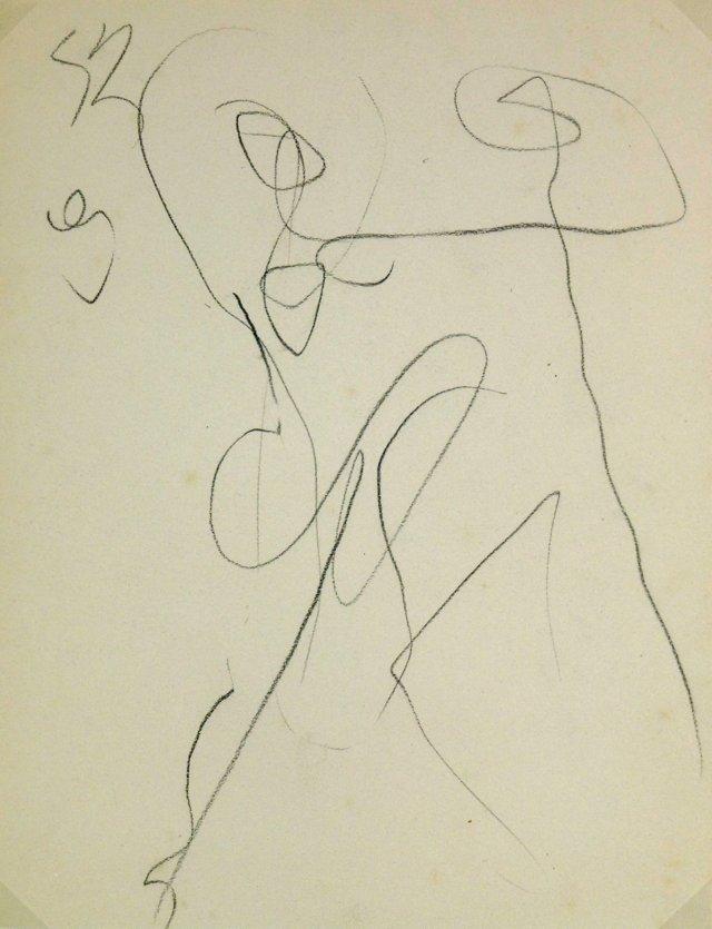 Gestural Dancer, C. 1950