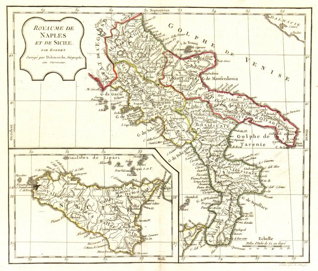 Southern Italy & Sicily, 1806