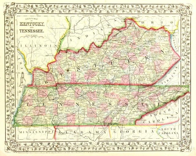 Tennessee & Kentucky, 1870