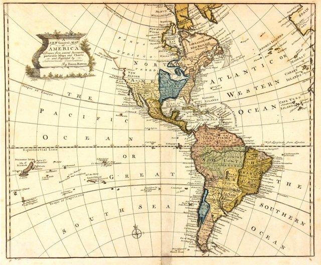 Chart of America, 1747