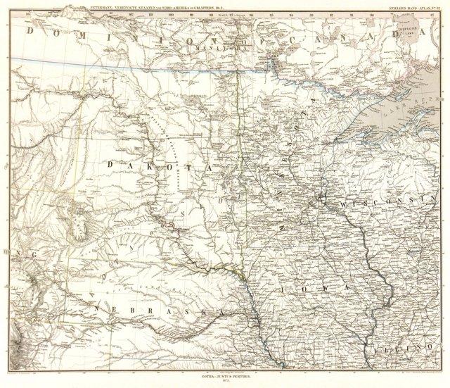 Midwestern States & Territories, 1873