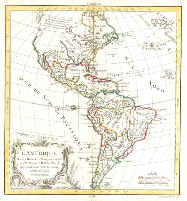 North & South America, 1774