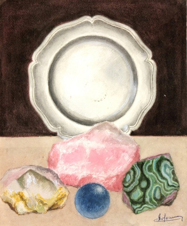 Silver Plate & Mineral