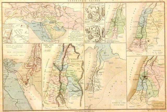 Biblical Map, 1863