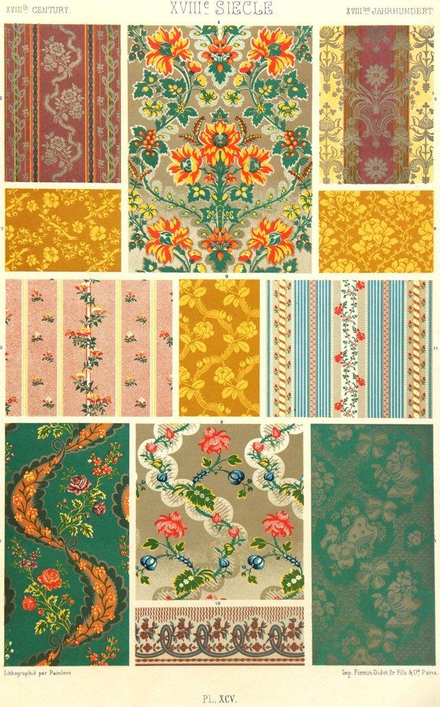 Wallpaper Designs, C. 1880