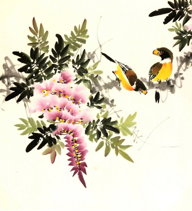 Goldfinches & Spring Blooms