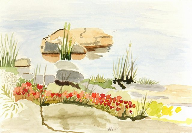 Lakeside Blossoms