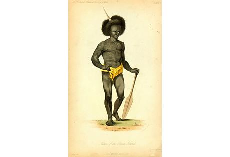 Papua Islands Native, 1855