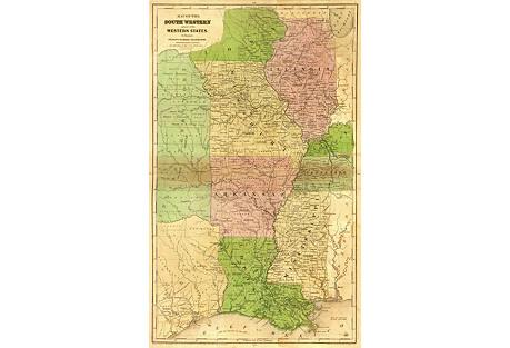 Central States & Texas Republic,  1844