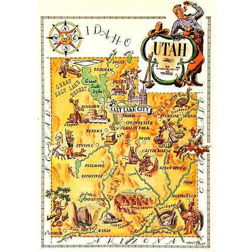 Utah Map, 1946