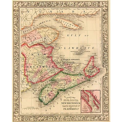Map of Canada, 1860