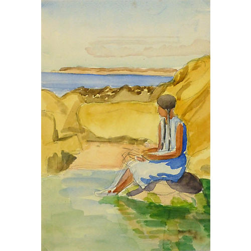 Lake Mead Watercolor