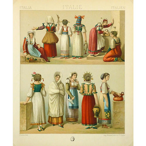 Clothing of Italy, 1885