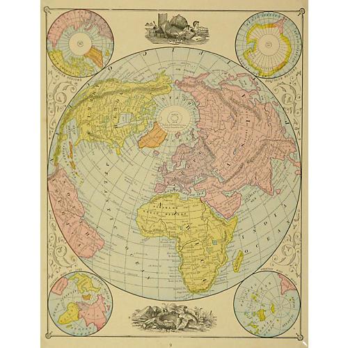 World Map, 1890