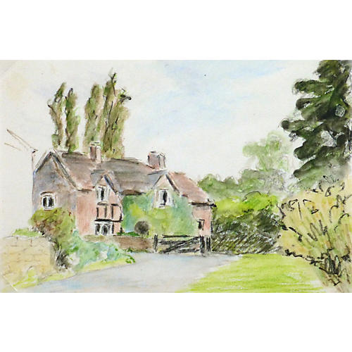Country Estate Watercolor