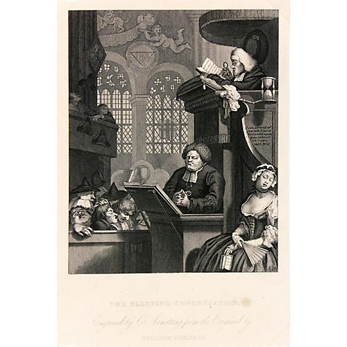 Hogarth Engraving, C. 1860