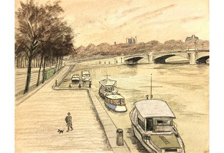 Paris River Walk,  C. 1970