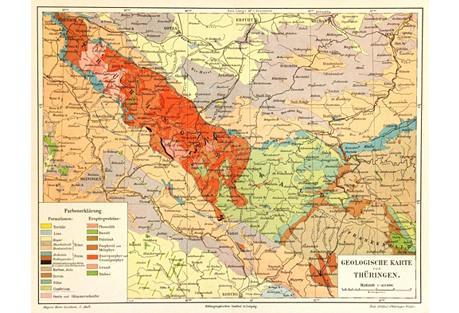 Geology Map,  1894