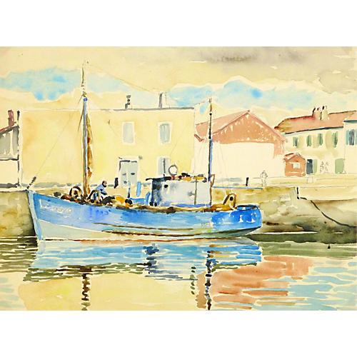 Harbor Reflections, C. 1940
