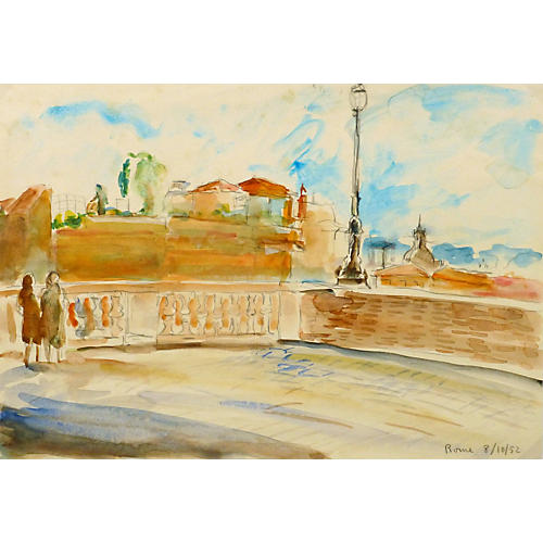 Rome Belvedere, 1952