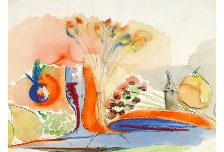 Golden Tablescape, C. 1960