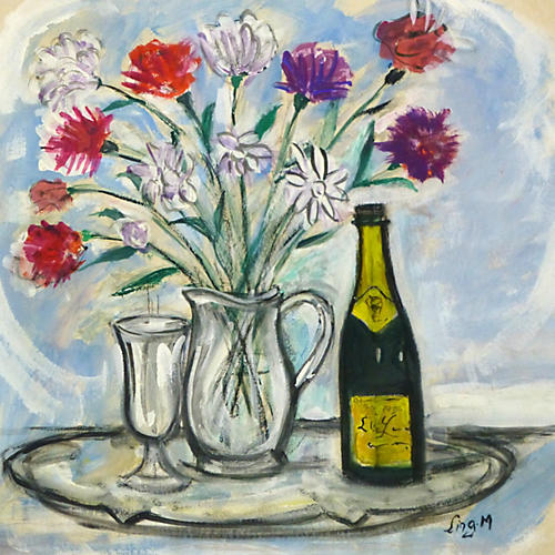 Bouquet & Champagne, C. 1950