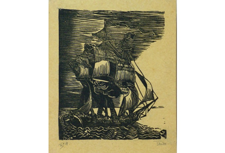 Seafaring Woodblock, C. 1920
