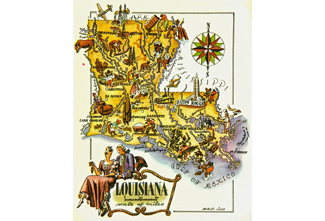 Louisiana Map,          1946