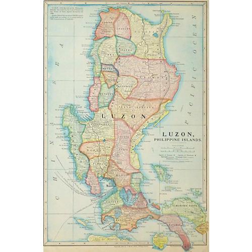 Luzon Philippines Map, 1899