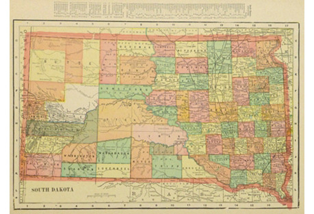 South Dakota Map, 1903