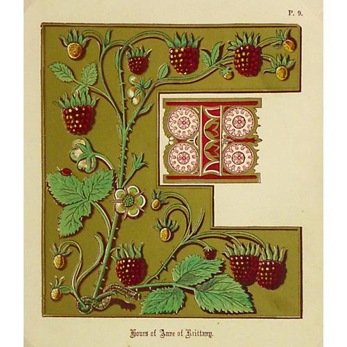 Raspberry Letter, C. 1880