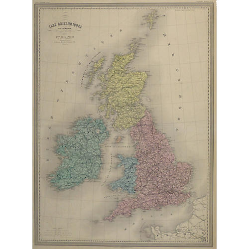 British Isles Map, C. 1860