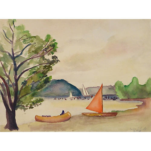 Lake Watercolor, 1940