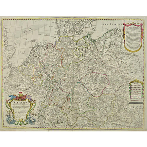 Map of Germany, 1788
