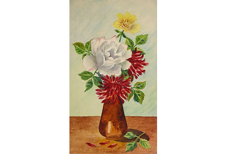 Rose and Mums, C. 1960