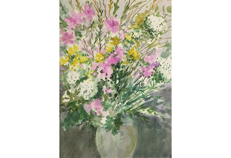 Painting of Flowers, C. 1960