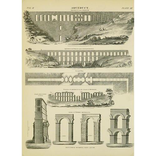 Aqueduct Engraving, C.1880