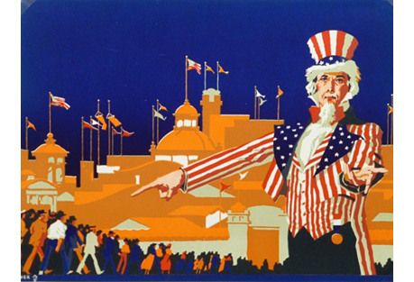 Uncle Sam Woodcut, 1916