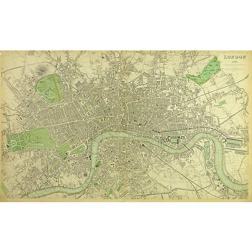 London Map, 1843