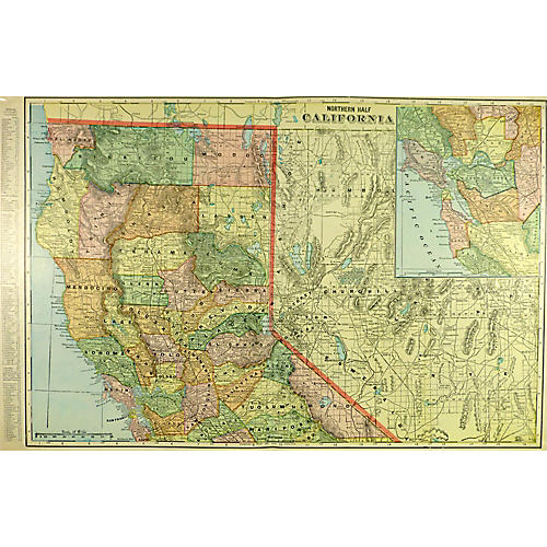 Map of Northern California, 1902