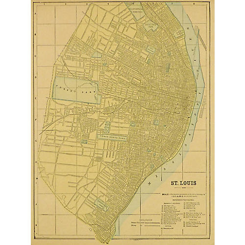 Map of St. Louis, 1893
