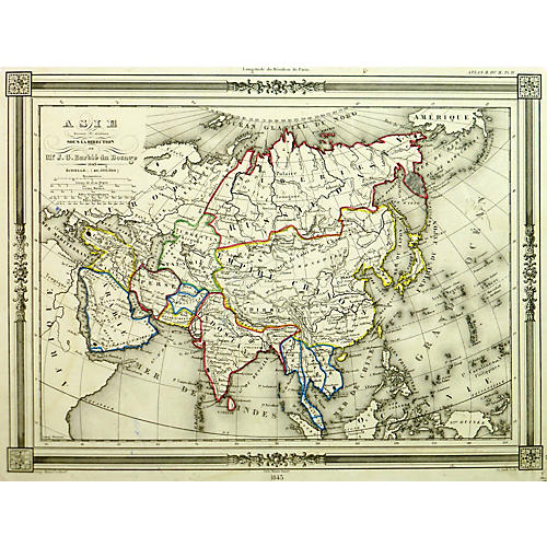 Map of Asia, 1843
